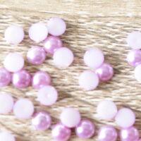 VA27 Cone Flower Lilac 50pcs 7x13mm Acrylic Pearl Jewels Rhinestone Bead
